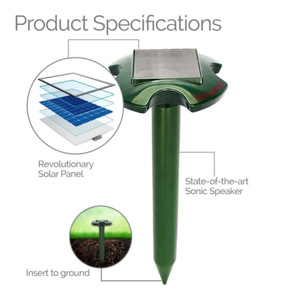 Solar Snake And Mole Repeller Product Description